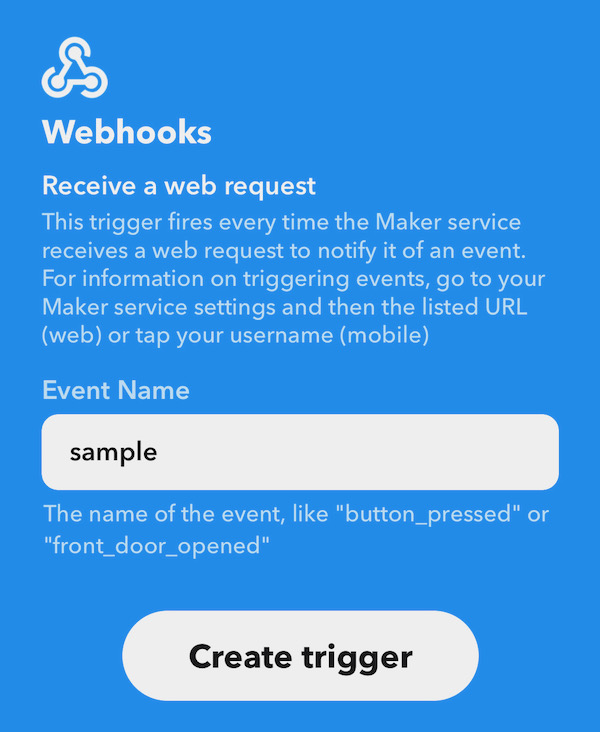 Webhooks Event Name